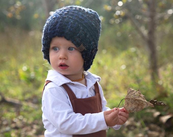 The Aurora Beanie// Toddler ~ Adult // Wool Acrylic Beanie// Crochet Toque// Chunky Beanie// Metropolis//