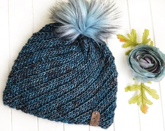 READY TO SHIP - Adult - The Simply Swirled Beanie | Luxury Collection | Hand-dyed Merino | Crochet Toque | Textured | Unique | Classic Rib