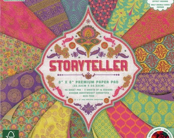 STORYTELLER PINK FIRST EDITION DECO MACHE DECOUPAGE TISSUE PAPER x 3 SHEETS NEW