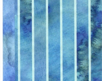 Watercolour Blues DECOUPAGE TISSUE PAPER x 4 Sheets, Brand New Dovecraft, Simply Creative