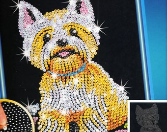 Westie SEQUIN ART Craft KIT, Brand New For Age 8 plus