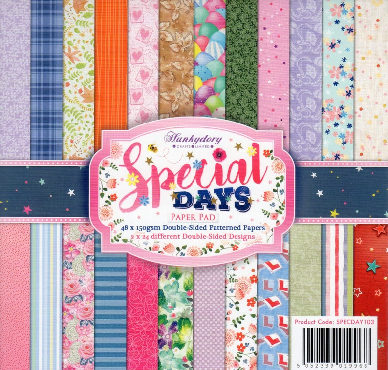 10 x A4 Create /& Craft Double Sided Patterned Card Stock 300gsm NEW
