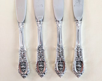 @ Wallace Rosepoint Sterling Silver Individual Butter Spreader Flat Handle