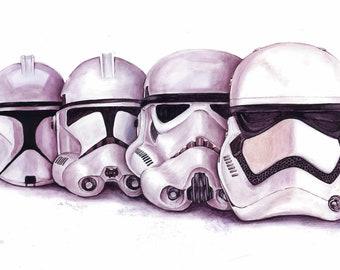 Évolution de la Stormtrooper - affiche Plakmounted