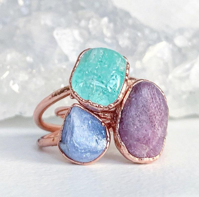 Raw Ruby Gemstone Ring Rough Ruby Ring July Birthstone Ring July Birthstone Jewelry Gifts for Her Uncut Ruby Healing Gemstone Jewelry