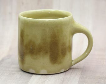 Coffee Mug - Ready to Ship -  Ceramic Handmade Wheelthrown Pottery Cup