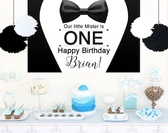Tuxedo Cake Table Backdrop, Baby Shower Backdrop, Little Man Baby Shower Backdrop, Little Gentleman Backdrop, Printed Vinyl Photo Backdrop