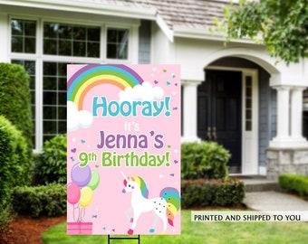 Honk Birthday Yard Sign | Quarantine Birthday | Birthday Yard Sign | Birthday Sign | Unicorn Birthday Yard Sign | Happy Birthday Lawn Sign |