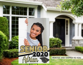 Class of 2020 Graduation Photo Yard Sign - High School Senior Welcome Sign - Welcome Sign Congrats, Grad Lawn Sign, Graduation Yard Sign