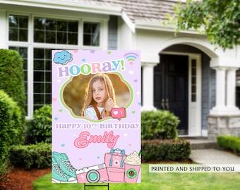 Honk Birthday Yard Sign | Quarantine Birthday | Birthday Yard Sign | Photo Yard Sign | Girls Birthday Yard Sign, Happy Birthday Lawn Sign