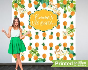 Party Like a Pineapple Personalized Photo Backdrop -Pineapple Photo Backdrop- Summer Birthday Party Backdrop - Tropical Birthday Backdrop
