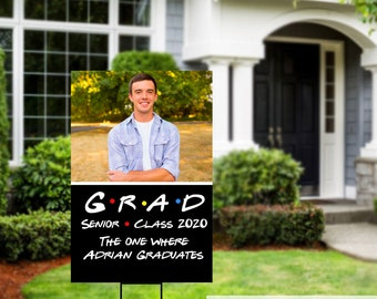 Class of 2020 Graduation Photo Yard Sign - High School Senior Welcome Sign - Welcome Sign Congrats, Foam Board Sign, Graduation Yard Sign