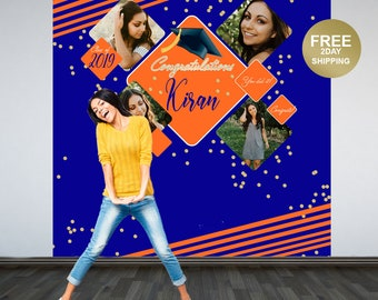 Graduation Photo Backdrop | Personalized Photo Backdrop | Class of 2019 Photo Backdrop | Congrats Grad Photo Backdrop |  Graduation Backdrop