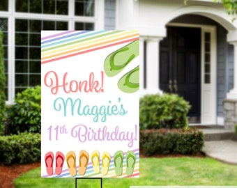 Birthday Yard Sign | Quarantine Birthday | Birthday Yard Sign | Birthday Sign | Flip Flop Birthday Sign | Happy Birthday Sign, 16th Birthday