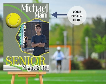 Senior Night Poster - High School Senior Night Poster, Tennis Senior Poster, Tennis Welcome Poster, Printed Foam Board Poster, Sports