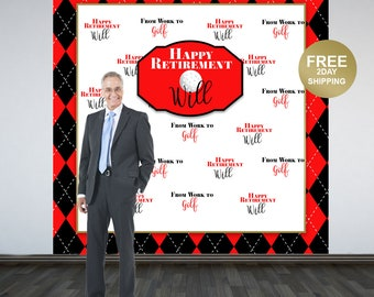 Retirement Party Personalized Photo Backdrop | Golf Retirement Photo Backdrop | Birthday Photo Backdrop | Retirement Backdrop