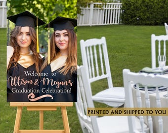 Graduation Welcome Sign - Grad Photo Welcome Party Sign, Welcome Sign Congrats GRAD, Foam Board Sign, Welcome to the Party Sign, Canvas Sign