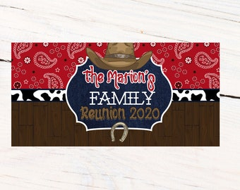Western Party Personalized Banner, Cowboy Personalized Party Banners - Cowgirl Photo Banner, Family Reunion Banner, Printed Banner, Birthday