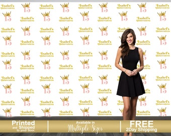 Birthday Princess Step and Repeat Backdrop | Sweet 15 Photo Backdrop | Sweet Sixteen Photo Backdrop | 16th Birthday Backdrop | Mis Quince