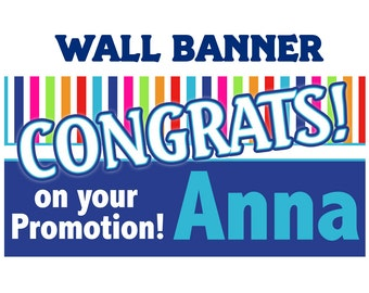 Congrats Banner ~ Personalized Party Banners, Congratulations Banner, Custom Banner, Vinyl Banners, Printed Banners - Birthday Banners