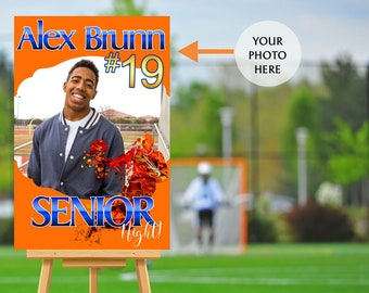 Senior Night Poster - High School Senior Night Poster, Basketball Senior Poster, Basketball Welcome Poster, Printed Foam Board Poster