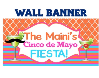 Fiesta Banner ~ Birthday Party Banner - Vinyl Banner - Fiesta Birthday Banner - 30th Birthday - 40th Birthday - Printed Banner