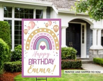 Honk Birthday Yard Sign | Quarantine Birthday | Birthday Yard Sign | Birthday Signs | Rainbow Birthday Yard Sign | Happy Birthday Lawn Sign