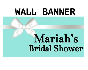 Bridal Shower Party Banner  ~ Wedding Shower Personalized Party Banners, Baby Shower Banner, Printed Vinyl Banner, Custom Banner