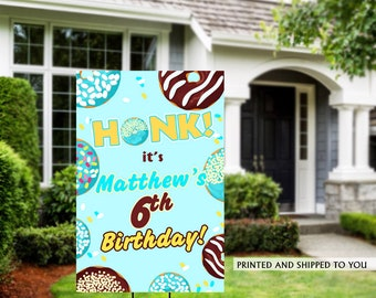Honk Birthday Yard Sign | Quarantine Birthday | Birthday Yard Sign | Birthday Sign | Donut Birthday Yard Sign | Happy Birthday Lawn Sign |