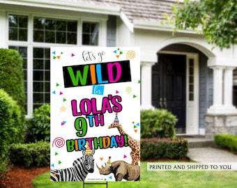 Honk Birthday Yard Sign | Quarantine Birthday | Birthday Yard Sign | Party Animals Yard Sign | 10th Birthday Yard Sign | Happy Birthday Sign