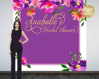 Bridal Shower Photo Backdrop | Spring Floral Photo Backdrop | Birthday Photo Booth Backdrop | Custom Backdrop | Baby Shower Backdrop