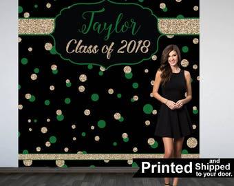 Graduation Photo Backdrop - Congrats Grad Personalized Photo Backdrop- Class of 2019 Photo Backdrop- Photo Booth Backdrop, Printed Backdrop