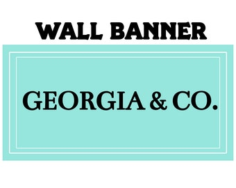 Baby Shower Party Banner  ~ Wedding Shower Personalized Party Banners- Birthday Banner, Printed Banner, Birthday Aqua Blue Banner
