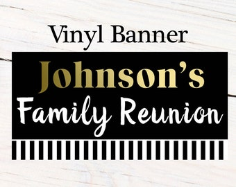 Family Reunion Photo Banner, Personalized Party Banners- School Reunion Banner, Custom Party Banner, Printed Banner, Vinyl Banner Retirement