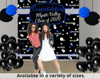 Graduation Personalized Photo Backdrop, Birthday Photo Backdrop-Hash Tag Photo Backdrop, Congrats Grad, Class of 2019 Printed Backdrop