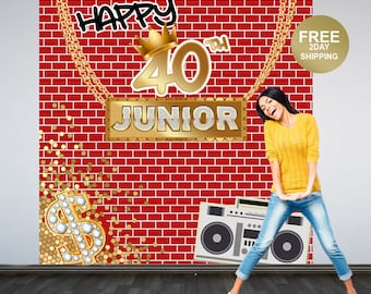 Hip Hop Party Personalized Photo Backdrop | 90's Photo Backdrop | Graffiti Birthday Photo Backdrop | Custom Backdrop | Birthday Backdrop