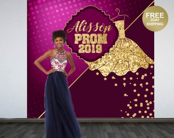 Prom Send Off Personalized Photo Backdrop | Prom 2K19 Photo Backdrop | Glamourous Photo Backdrop | Graduation Photo Backdrop | Senior Prom