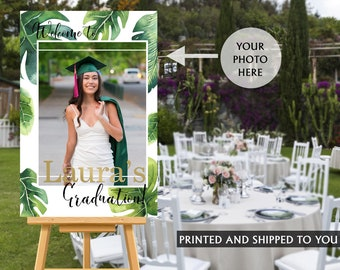 Graduation Photo Welcome Sign | Tropical Grad Sign in Board | Grad Welcome Sign | Foam Board Sign | Welcome to the Party Sign, Class of 2019