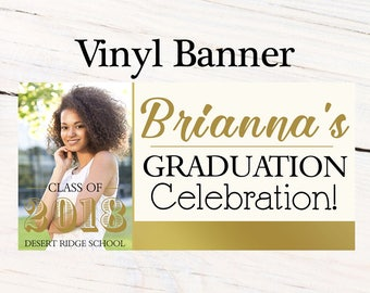 Graduation Class of 2018 Photo Banner ~ Congrats Grad Personalize Party Banners -Classic Graduation Large Banner