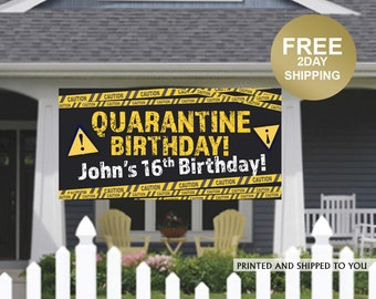Quarantine Birthday Banner | Personalized Birthday Banner | Outdoor Banner | Birthday Banner | Quarantine Birthday Banner, Lawn Banner