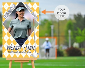 Senior Night Poster - High School Senior Night Poster, Golf Senior Poster, Golf Welcome Poster, Printed Foam Board Poster, Sports