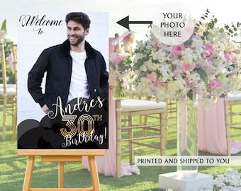 30th Birthday Welcome Sign, Welcome to the Party Sign, Birthday Welcome Sign, Foam Board Welcome Sign, Printed Welcome Sign - Canvas Sign