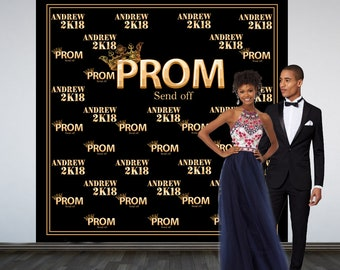 Prom Send Off Personalized Photo Backdrop, Prom 2K19 Photo Backdrop, Royal Prom Court Photo Backdrop, Photo Booth Backdrop, Printed Backdrop