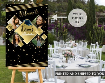 Graduation Photo Welcome Sign | Grad Party Sign in Board | Grad Welcome Sign | Foam Board Sign | Welcome to the Party Sign | Class of 2019
