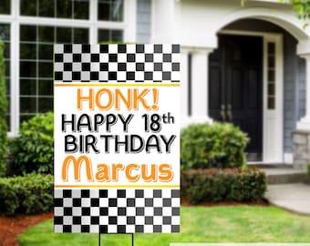 Birthday Yard Sign | Quarantine Birthday | Birthday Lawn Sign | Birthday Sign | Racing Birthday Sign | Happy Birthday Sign, 16th Birthday