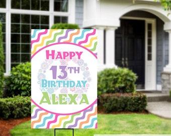 Birthday Yard Sign | Quarantine Birthday | Birthday Yard Sign | Birthday Sign | 13th Birthday Yard Sign | Happy Birthday Sign | Peace Sign