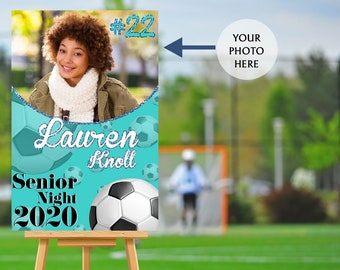 Senior Night Poster, High School Senior Night Poster, Soccer Senior Poster, Photo Poster, Printed Foam Board Poster, Sports Poster