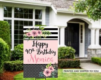 Birthday Yard Sign | Quarantine Birthday Sign | Birthday Yard Sign | 40th Birthday Signs | 50th Birthday Yard Sign, Happy Birthday Lawn Sign