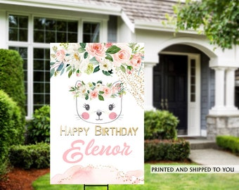 Birthday Yard Sign | Quarantine Birthday Sign | Birthday Yard Sign | Birthday Signs | Kitty Birthday Yard Sign, Happy Birthday Lawn Sign