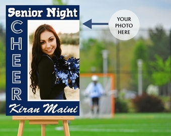 Senior Night Poster, High School Senior Night Poster, Cheer Senior Poster, Baseball Welcome Poster, Printed Foam Board Poster, Sports Poster